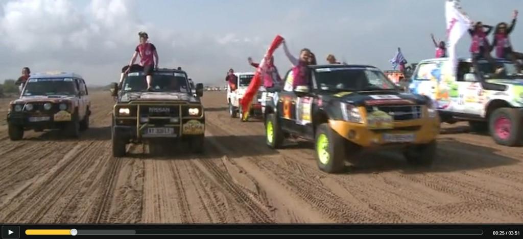 Remise des prix du Rallye Aïcha des Gazelles arrivée-essaouira-1024x469